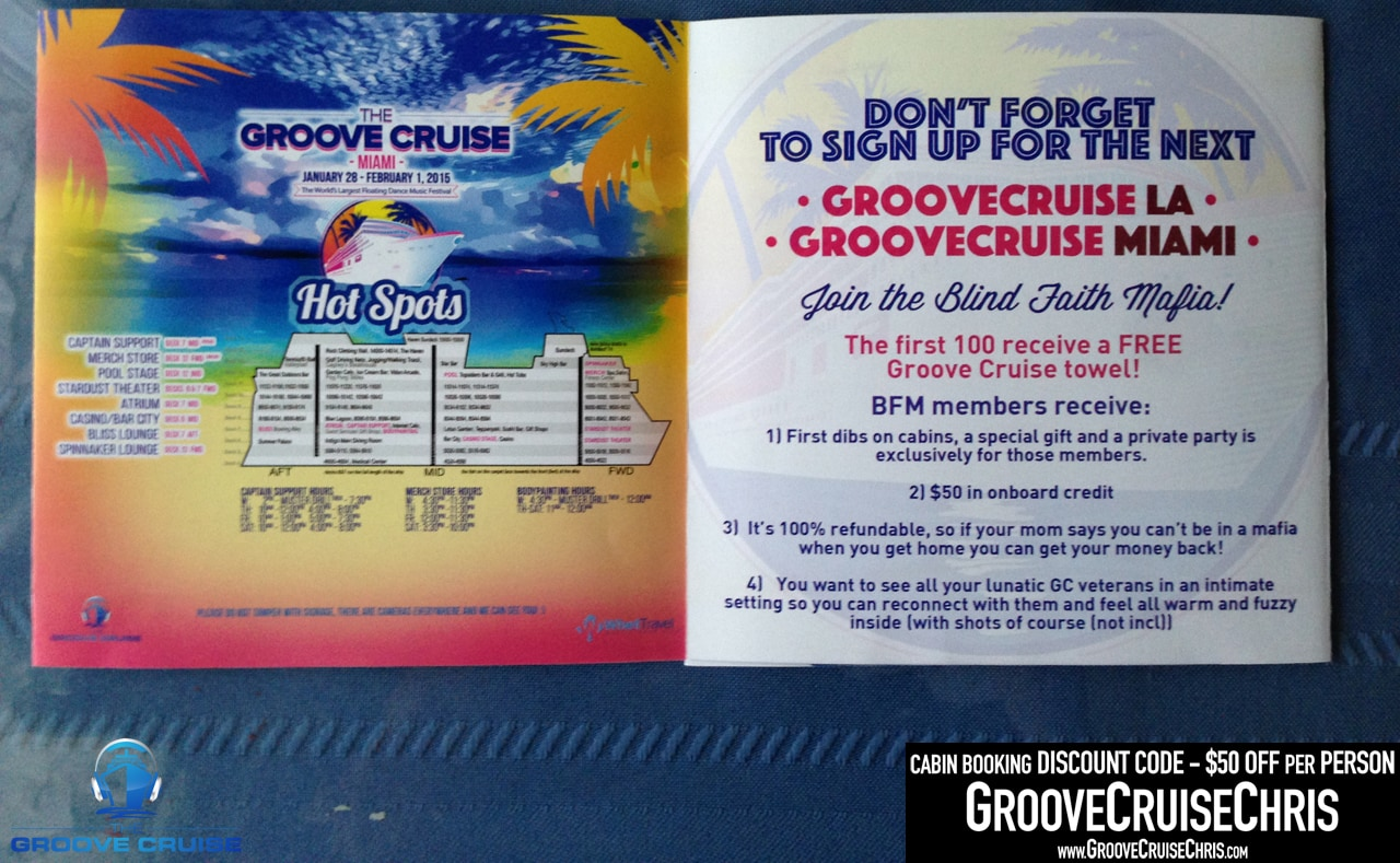 Promo Material From Groove Cruise Miami Groove Cruise Chris