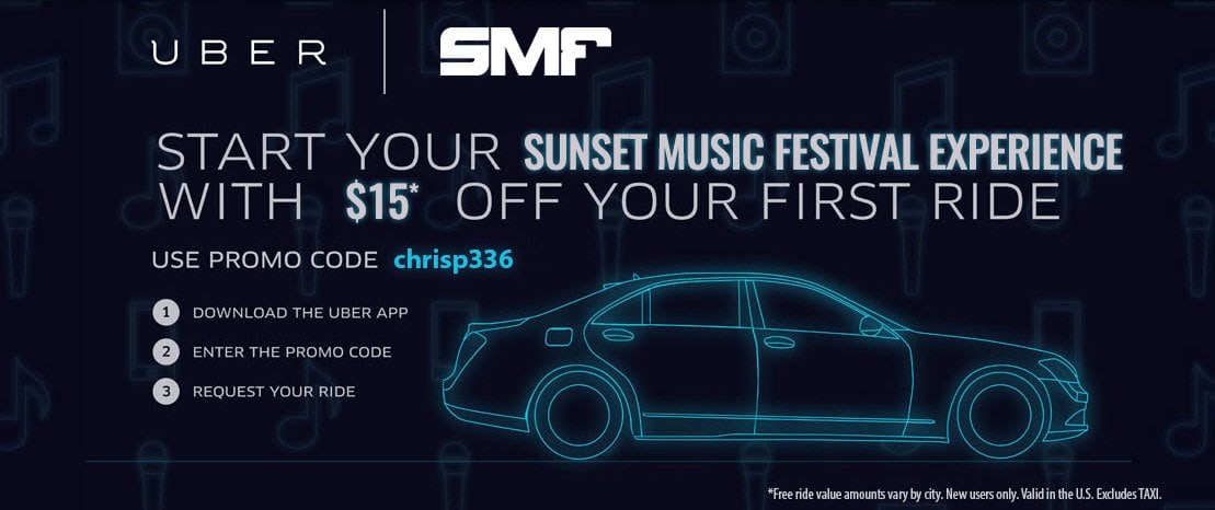 Beat the Tampa Traffic and Uber to Sunset Music Festival 2016