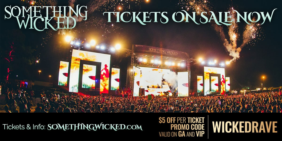 """Our Something Wicked Promo Code """"NOCTURNALSD"""" Tickets for sale event will be one to remember. Get your ViP Discount Promotional Coupon and buy your vip tickets, general admission, ga, parking passes, lockers, merch, and more."""