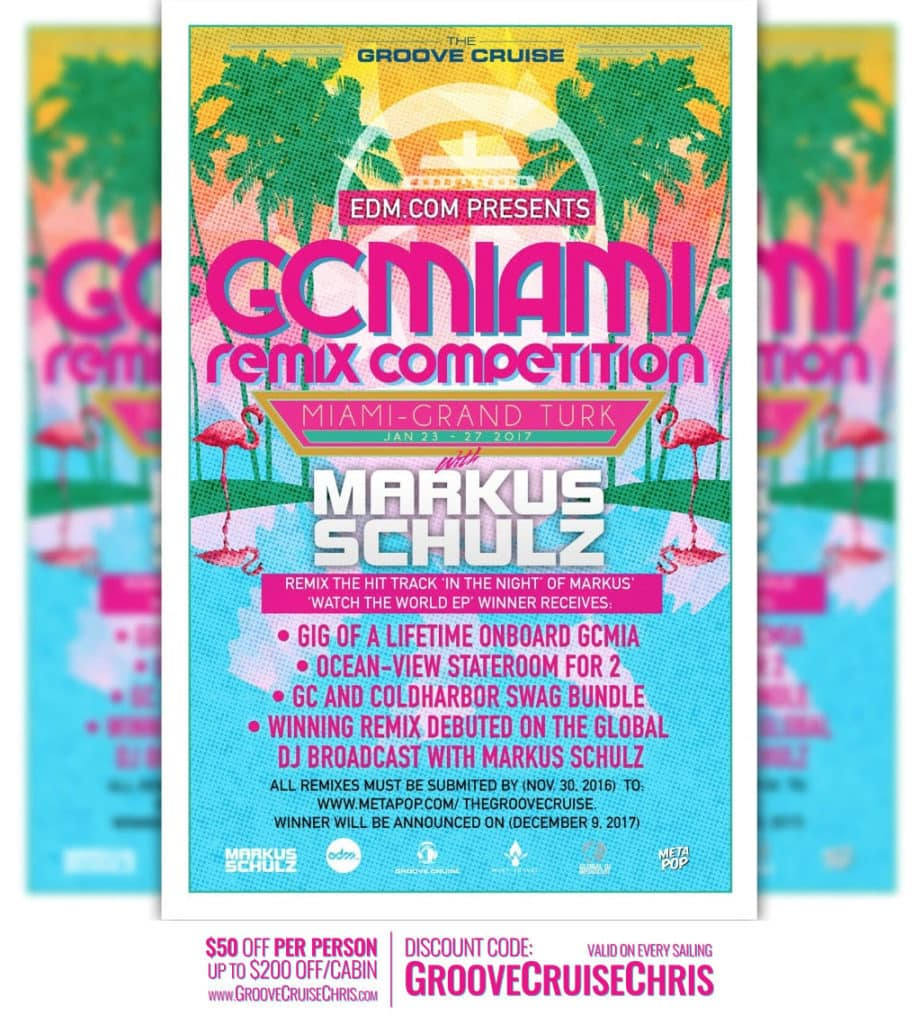 Groove Cruise Miami 2017 DJ Remix Competition | Groove Cruise Chris