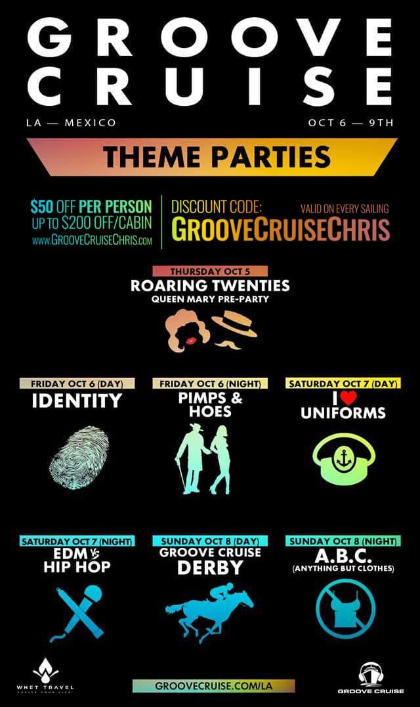groove cruise la 2017 themes