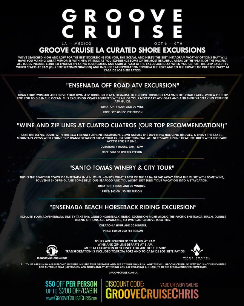groove cruise la 2017 excursions
