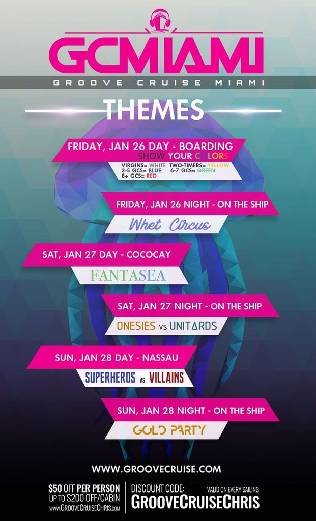groove cruise miami 2018 themes